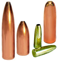 Jacketed ogive type bullets made in 3-die set
